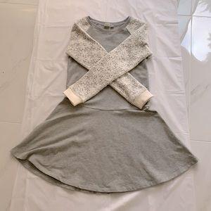 Gap Girls Dress (Grey & White with Flowers)